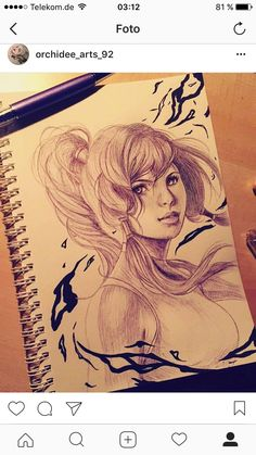 Avatar Korra 🌸 Re. Design from sakimi.chan Drawing with Ballpoint
