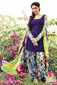Indian Wardrobe is your ultimate destination for Fashionable ethnic women's clothes like Sarees, Salwar Kameez, Lehenga Sarees and Choli, Kurtis, Tunics and Salwar Suits. Latest Salwar Suits, Patiala Salwar Suits, Salwar Suits Online, Indian Suits, Indian Attire, Indian Dresses, Indian Wear, Indian Clothes, Punjabi Dress