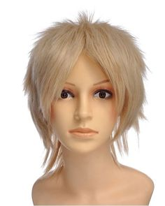 Morrai Short Blonde Wig Cosplay at nextwigs.com