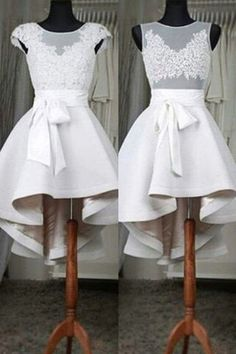 Lace High Low homecoming prom dresses,New Design Sexy See through Short Prom Dresses,M58