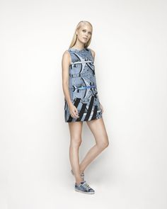 House Of Cannon - Launching Los Angeles - SS17/18 Shift Dress in Air Traffic Control print