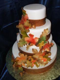 Awesome Fall Wedding Cakes - Weddingomania
