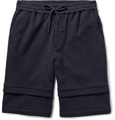 Layered-Effect Loopback Cotton-Jersey Shorts | MR PORTER