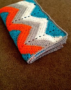 BabyLove Brand Chevron Blanket - Perfect gift for girl or boy Small: 32x44 - perfect for travel, bedroom, crib, baby shower, birthday via Etsy