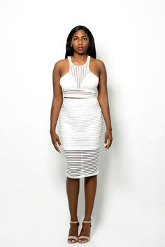 BLINDED BY THE LIGHT White 2-Piece Set