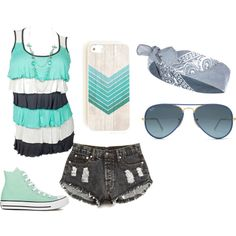 Casual by strangertolove on Polyvore featuring Forever 21, Converse, River Island and Ray-Ban