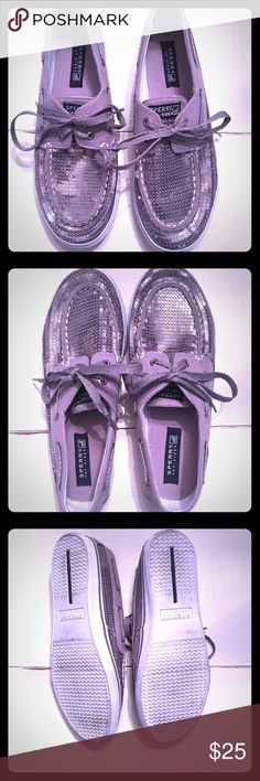 """Sperry Top Sider Women's Boat Shoes Sperry Top Sider Women's Gray Pewter/ Silver """"Bahama Pewter"""" Boat Shoes. Size 5, I wear a 7 and these fit me great. Wore one time. Sperry Top-Sider Shoes Flats & Loafers"""
