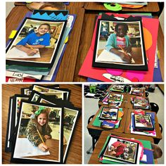 """Young Author Portfolios and Celebration - I like the """"portfolios"""" with students pictures. I also like that it was a celebration of writing that happened throughout the year."""