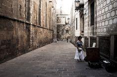 Barrio Gotico, Barcelona by Dria72, via Flickr  Barri Gotic (Gothic quarter) Barcelona, Spain.