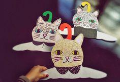 Llevo el invierno: Cat lovers.... handmade hangers for kids, D.I.Y. !