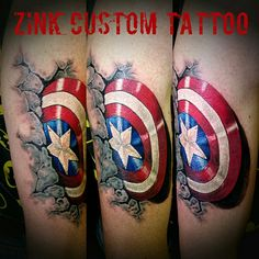Captain America shield cover up