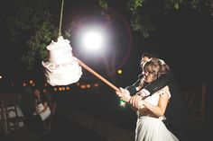 Have A Wedding Piñata An emerging trend in the wedding world is piñatas. Including a piñata that goes with your theme or colour scheme is a fun activity guests will enjoy (it also makes for some great photo ops). Photo via Wedding Party . Funny Wedding Photos, Wedding Pics, Wedding Blog, Dream Wedding, Wedding Ideas, Wedding Fun, Wedding Planning, Wedding Things, Wedding Stuff