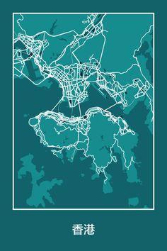 14 Maps That Reveal The Hidden Beauty of Big Cities - Hong Kong