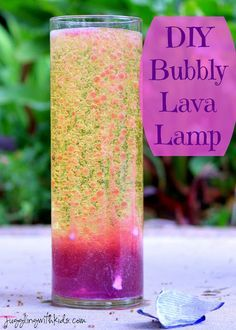 We re-did a favorite of ours...DIY Lava Lamps. All you need is 4 ingredients! It's lots of fun to watch and the kids love it! Jugglingwithkids.com