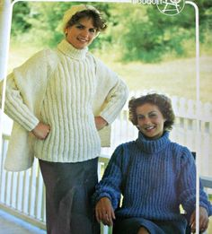 Turtleneck Knitting Pattern Crochet Pattern Ribbed Pullover with Hat and Scarf Bouquet 475 by elanknits on Etsy