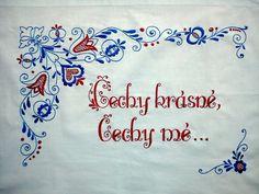 Vyšívaná kuchařka Ručně vyšívané bavlněné bílé plátno, rozměr cca 80x60 cm. Možnost po domluvě zhotovit v jiné barvě vyšívky, případně i plátna s dodáním nejpozději do čtyř týdnů. Czech Republic, Embroidery Patterns, European Countries, Crafts, Dashboards, Madeira, Crafting, Diy Crafts, Craft