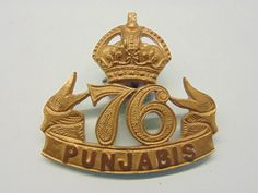 INDIAN ARMY,76 TH PUNJABIS POUCH BADGE . in Collectables, Militaria, World War I (1914-1918) | eBay