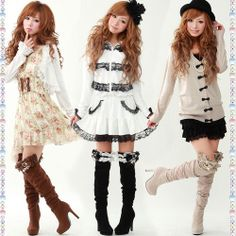 japanese fashion --- Ah, they look so cute! I don't think I could pull these looks off, but I like them :)