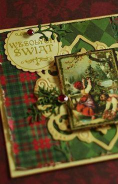 Stempel Wesołych Świąt w kółku idealnie pasujący do dziurkacza Dalprint