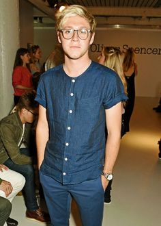 Niall at an Oliver Spencer fashion show in London yesterday (June 10)