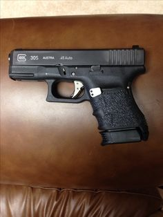 Custom Glock 30S, project finished.. added Phantom trigger, Talon grips, LW frame plug and Pearce mag base plate #glocklife