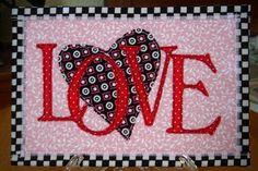 Love Fabric Postcard   For the Fabric Postcard Swap, Valenti…   Flickr