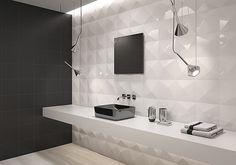 Dune Ceramica Shapes Shapes-Dune-3 , Salle de bain, Chambre à coucher, Espace public, unicolore, Céramique, revêtements mur, Mate, Brillante, Non rectifié