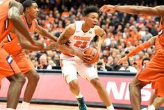 The Syracuse University men's basketball team played their ACC home opener against Clemson on Tuesday night January 5, 2016. Syracuse University guard Malachi Richardson (23). Stephen D. Cannerelli | scannerelli@syracuse.com