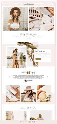 Emily Grace is a feminine WordPress theme that comes with a set of eight beautifully-designed pages, including five home Website Design Inspiration, Blog Website Design, Wordpress Website Design, Website Layout, Design Blog, Website Themes, Web Layout, Ux Design, Website Ideas