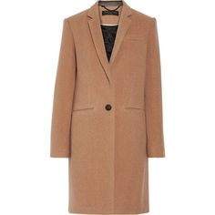 Rag & Bone Felt coat (€425) ❤ liked on Polyvore featuring outerwear, coats and camel