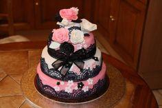 Recette - Gâteau rose blanc et noir | 750g