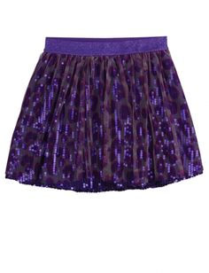 Sequin Printed Mesh Skirt | Justice | size 6