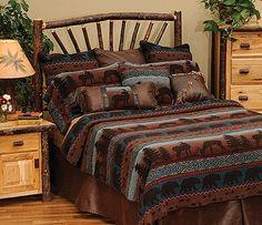 Best 53 Best Rustic Cabin Bed Frames Bedding Images Cabin Bed 400 x 300