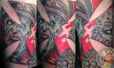 Nazi Zombie Combo photo  #jason doherty #jason doherty tattoo #tattoo #tattoos #neotraditional #neotraditional tattoo #neo-traditional #neo-traditional tattoo #traditional tattoo #tattoo artist #tattooist #tattooer #beautiful tattoo #amazing tattoo #tribal tattoo #biomechanical tattoo #black and gray tattoo #comic tattoo #iron cross tattoo #zombie tattoo