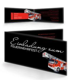 Feuerwehreinladungskarten. #feuerwehreinladung #feuerwehreinladungskarte