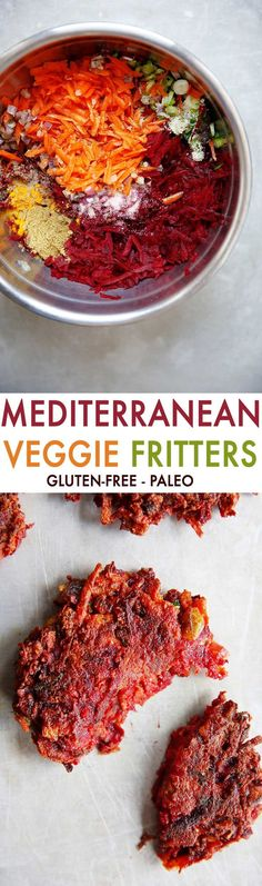 Mediterranean Veggie Fritters {Paleo, 30 minute or less, no added sugar, gluten-free, dairy-free} | Lexi's Clean Kitchen