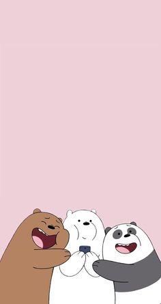 Cute we bare bears Cute Panda Wallpaper, Funny Phone Wallpaper, Bear Wallpaper, Wallpaper Iphone Disney, Iphone Background Wallpaper, Cute Disney Wallpaper, Kawaii Wallpaper, Wallpaper Lockscreen, We Bare Bears Wallpapers