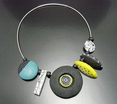 Hollow forms necklace by Libzoid, jewelry designer Libby Mills.