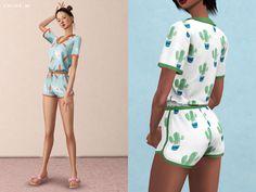 sims 4 cc // custom content clothing // The Sims Resource // ChloeMMM's ChloeM-Cute Pajama Set Sims 4 Mods Clothes, Sims 4 Clothing, Sims Mods, Sims 4 Cc Packs, Sims 4 Mm Cc, Sims 2, Cute Pajama Sets, Cute Pajamas, Vêtement Harris Tweed