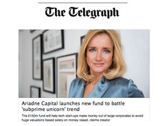Julie Meyer dressed in the Helena dress by MIchala Jedinak when featured in THE TELEGRAPH
