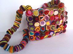 Swirly Pop Felt Bag by YUMMI Unique by Crafttasticparties on Etsy, $39.99