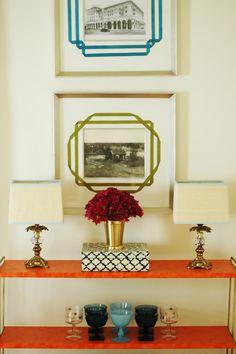 love the frame + mat | Little Green Notebook