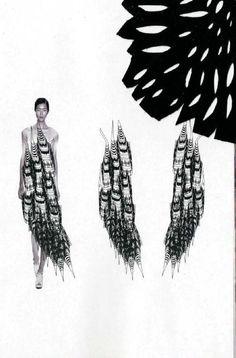 Fashion Sketchbook - fashion illustrations & textile sample, fashion portfolio // Sian Thomas