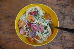 Herb & butter goat cheese linguine