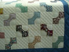Old Bow Tie Quilt - Cross Hatch Quilting