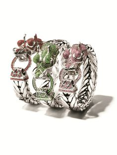 These stackable Naga dragon rings feature the mythical creature, a symbol of love, prosperity and protection.