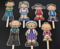 The Primary Pad: Family Stick Puppets