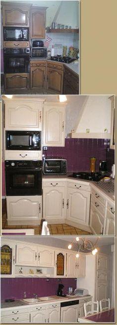 Les cuisines de claudine r novation relookage relooking - Cuisine rustique relookee ...