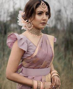 Half Saree Designs, Fancy Blouse Designs, Bridal Blouse Designs, Saree Blouse Designs, Indian Gowns Dresses, Indian Fashion Dresses, Designer Sarees Wedding, Saree Trends, Stylish Sarees