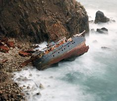 i find something so hauntingly beautiful about a shipwreck. is that weird?